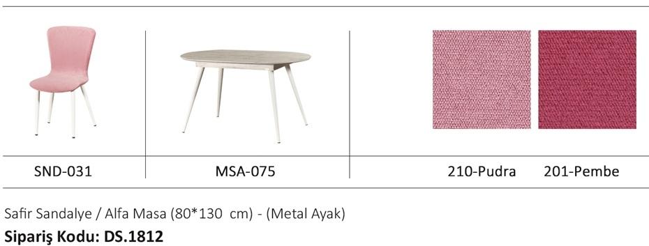 ALFA masa & NORDIKA sandalye
